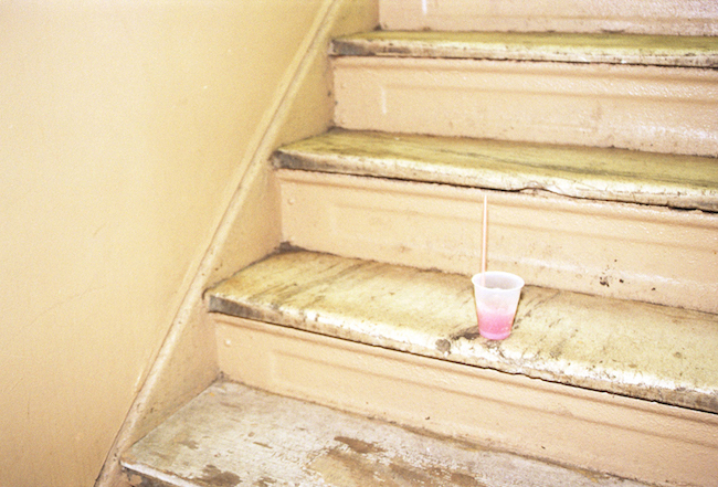 drink on stairs
